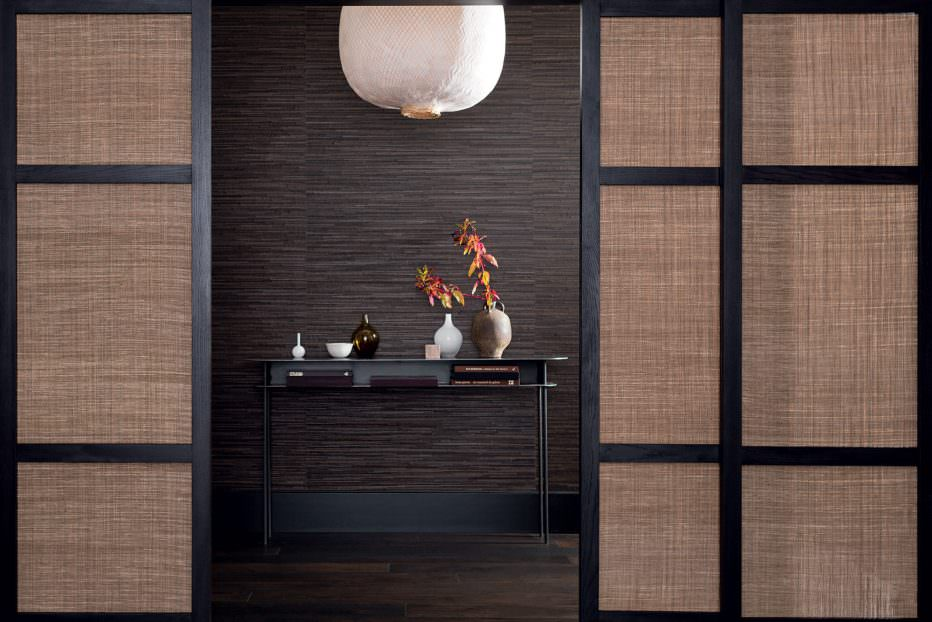 Leather wallcovering